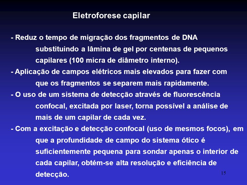 Eletroforese capilar