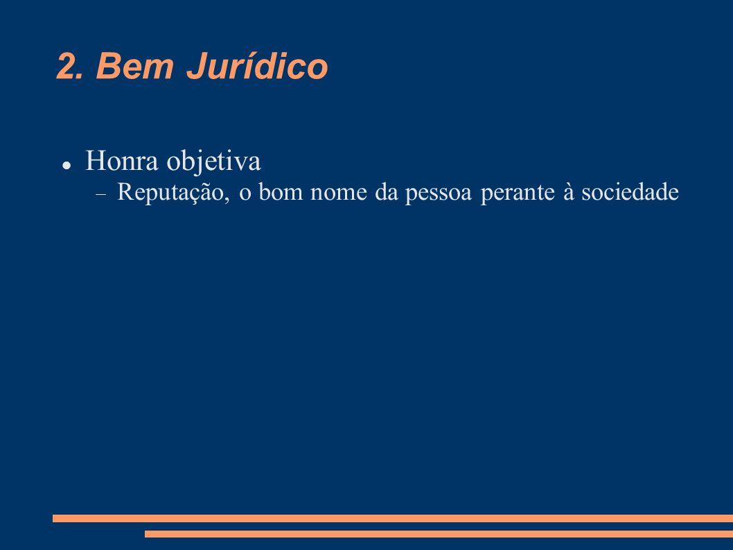 2. Bem Jurídico Honra objetiva