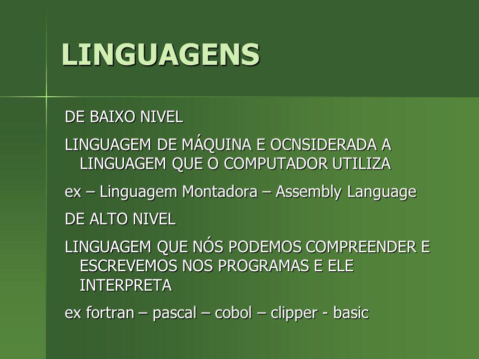 LINGUAGENS DE BAIXO NIVEL