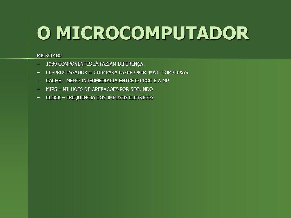 O MICROCOMPUTADOR MICRO 486 1989 COMPONENTES JÁ FAZIAM DIFERENÇA