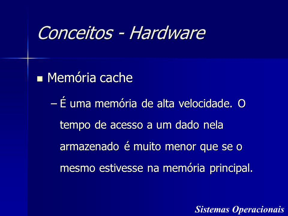 Conceitos - Hardware Memória cache