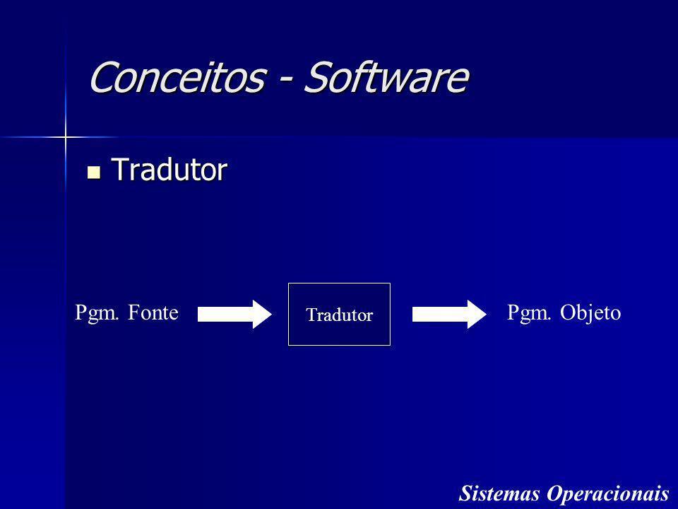 Conceitos - Software Tradutor Pgm. Fonte Pgm. Objeto