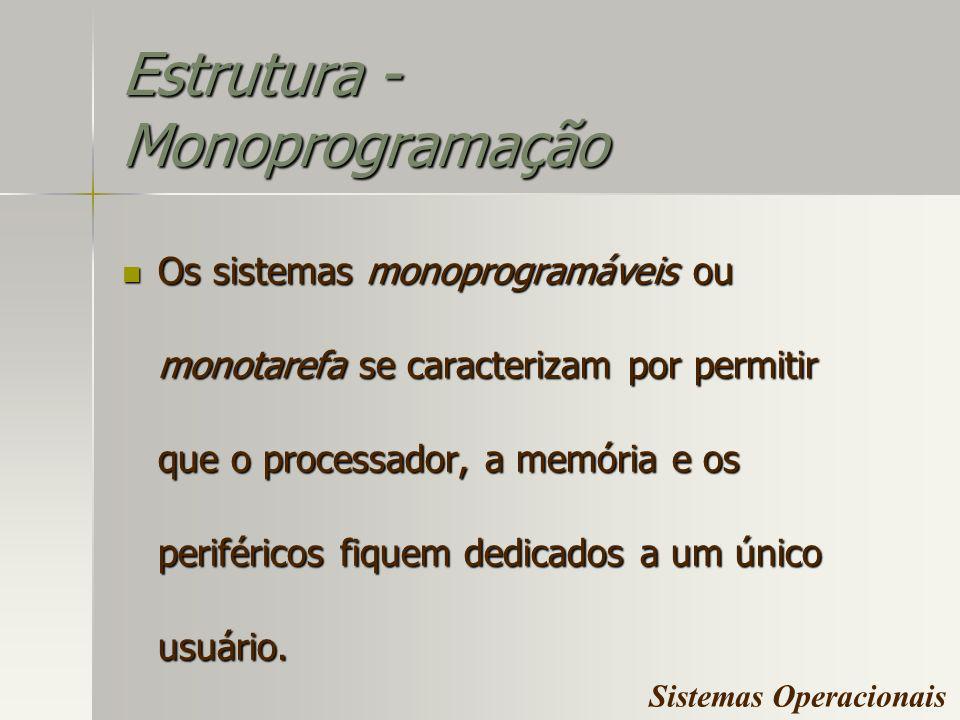 Estrutura - Monoprogramação