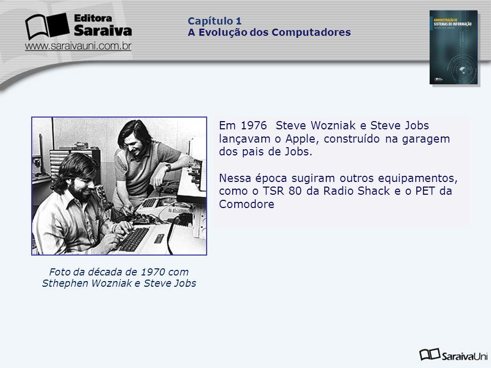 Foto da década de 1970 com Sthephen Wozniak e Steve Jobs