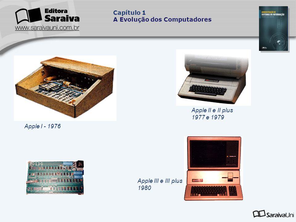 Capítulo 1 A Evolução dos Computadores. Apple II e II plus 1977 e 1979.