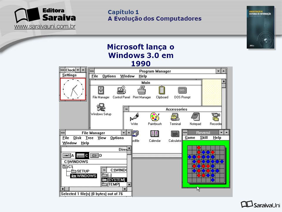 Microsoft lança o Windows 3.0 em 1990