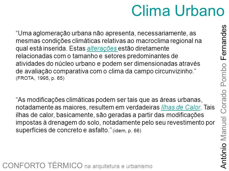 Clima Urbano António Manuel Corado Pombo Fernandes