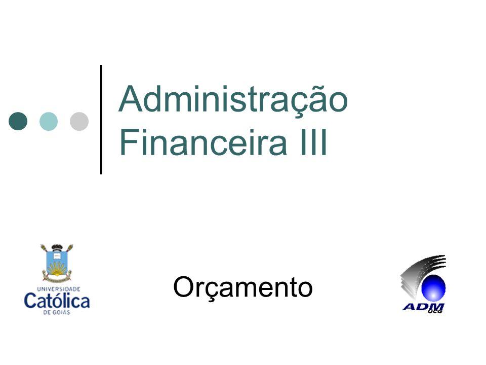 Administração Financeira III