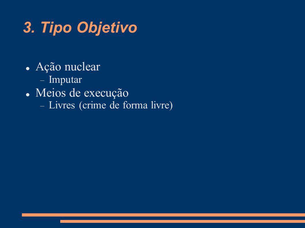 3. Tipo Objetivo Ação nuclear Meios de execução Imputar