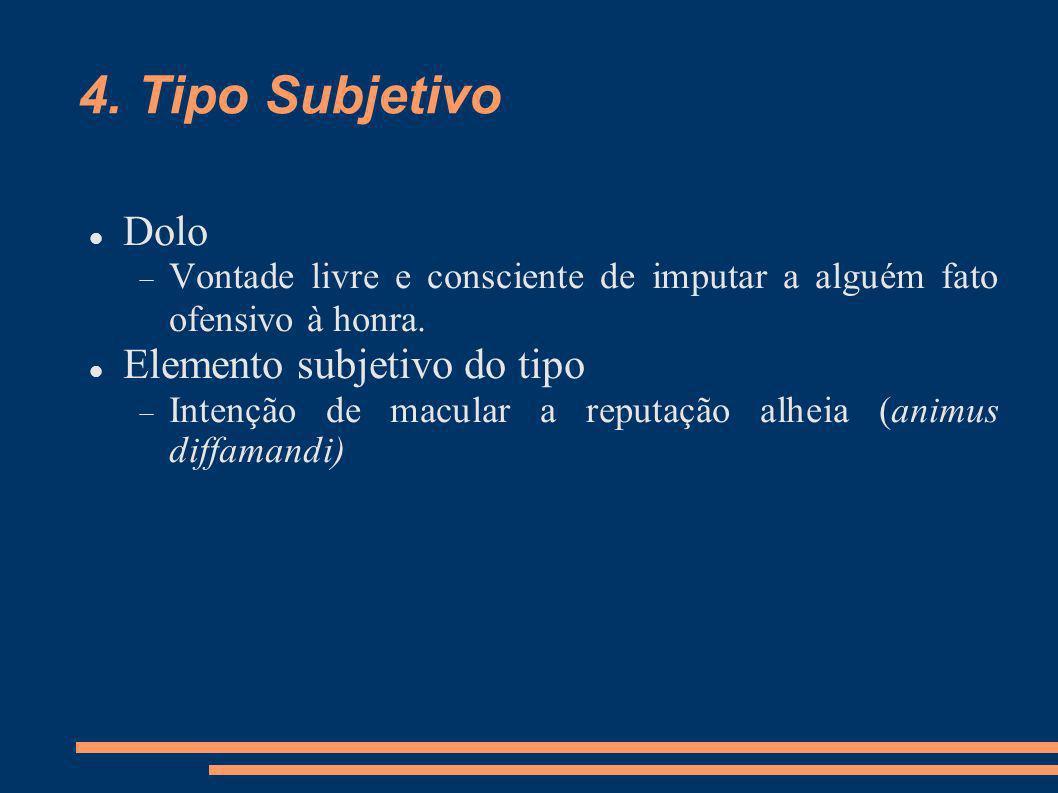 4. Tipo Subjetivo Dolo Elemento subjetivo do tipo