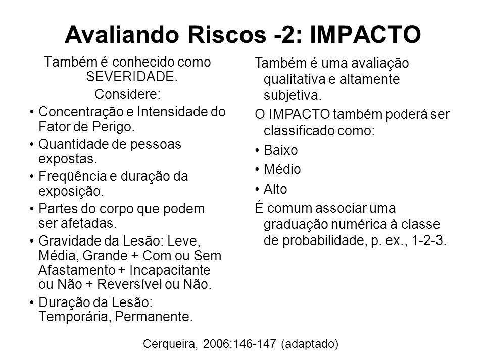 Avaliando Riscos -2: IMPACTO