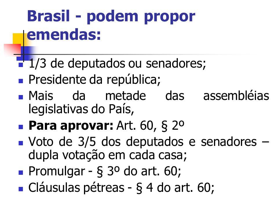 Brasil - podem propor emendas: