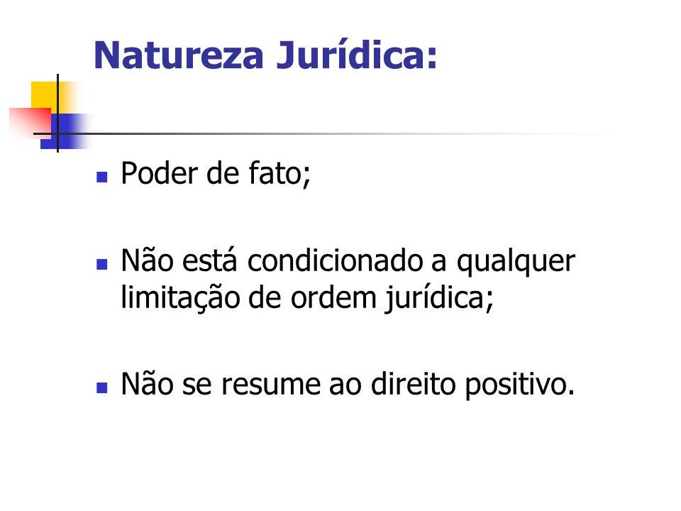 Natureza Jurídica: Poder de fato;