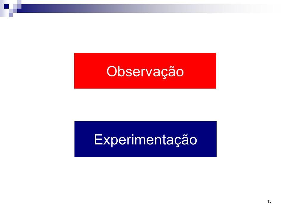 Observação Experimentação