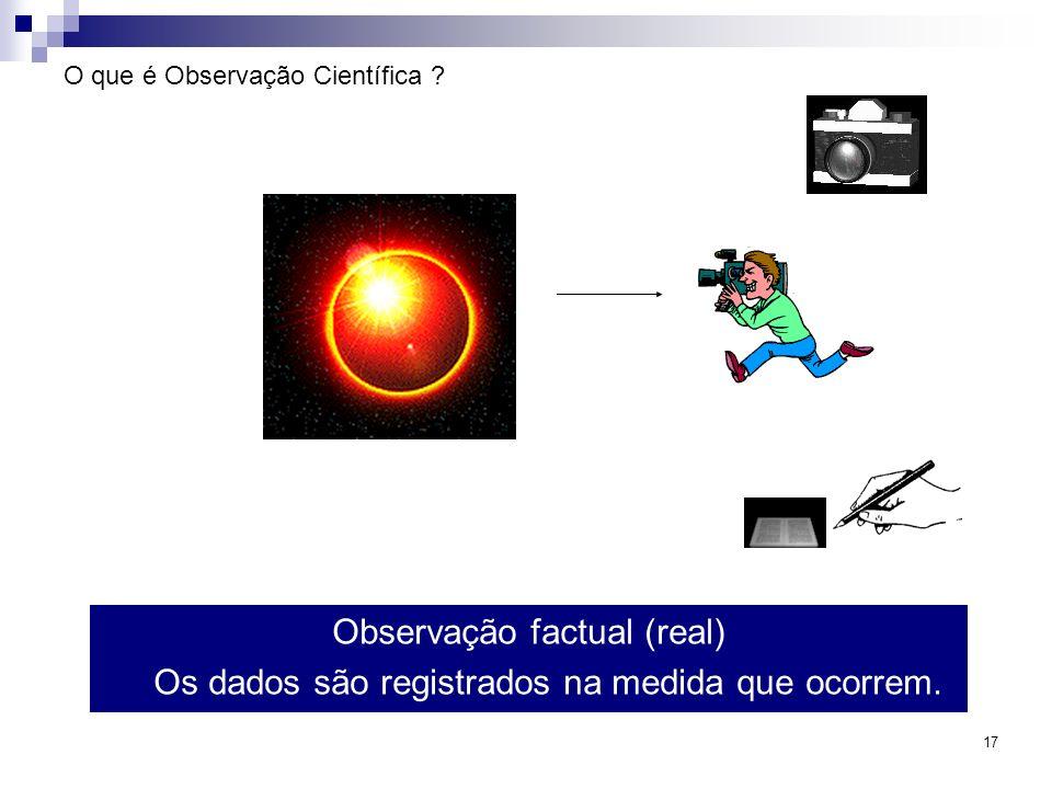 O que é Observação Científica