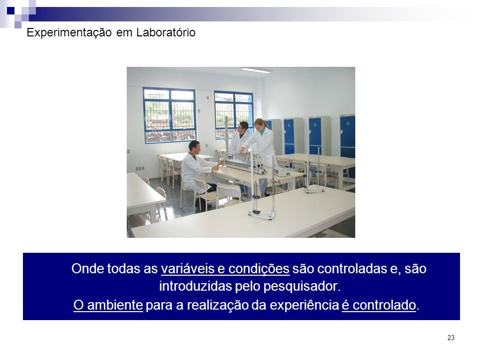 Experimentação em Laboratório
