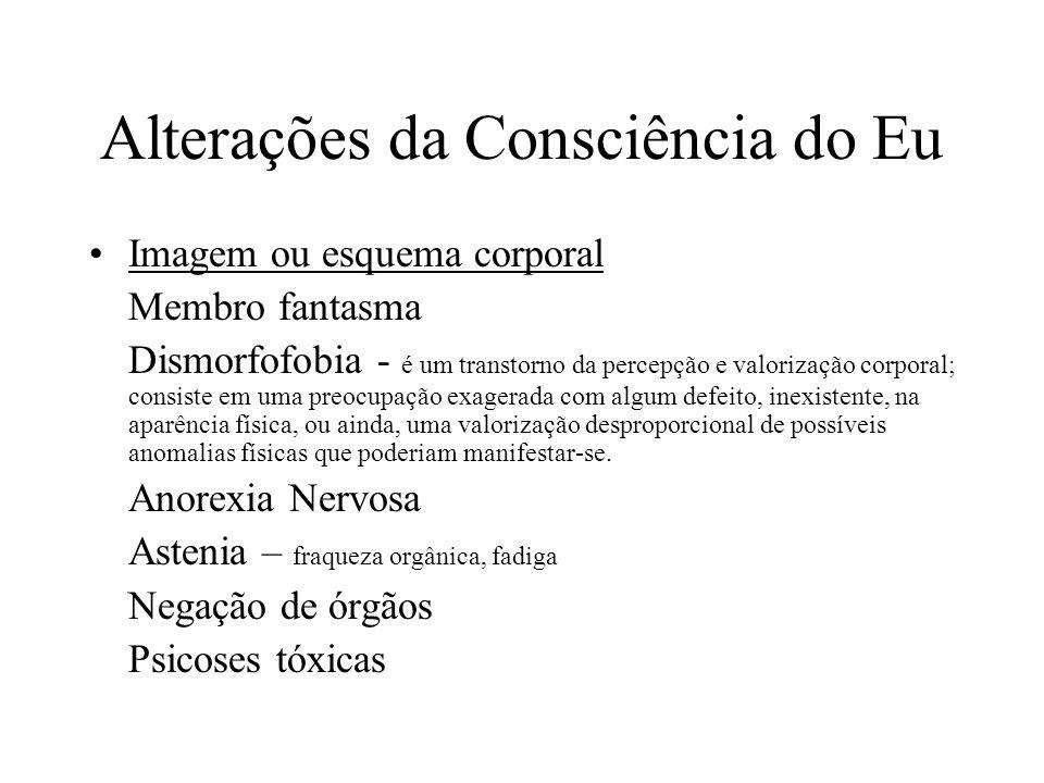 Alterações da Consciência do Eu