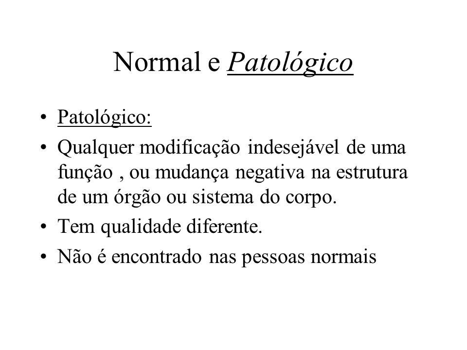 Normal e Patológico Patológico: