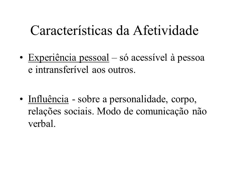 Características da Afetividade