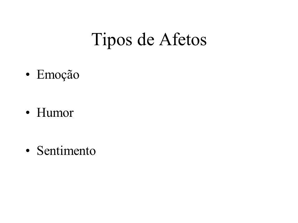 Tipos de Afetos Emoção Humor Sentimento