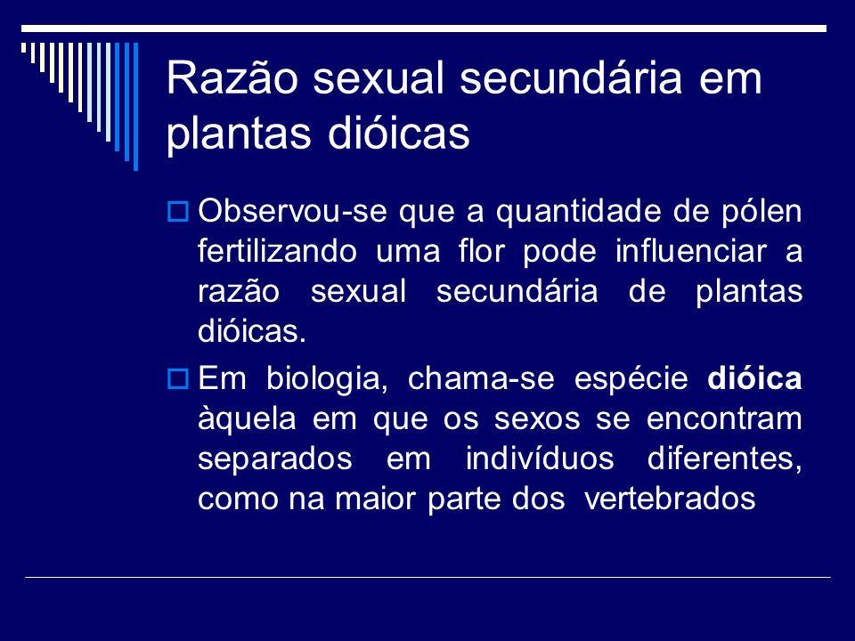 Razão sexual secundária em plantas dióicas