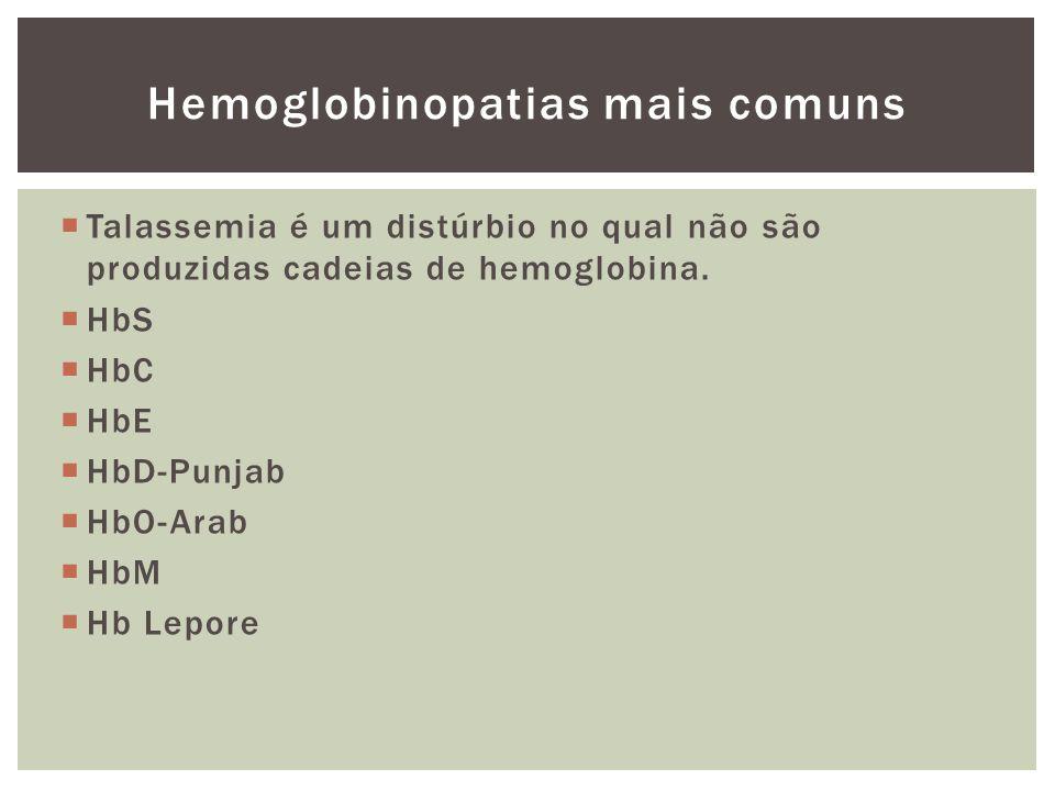 Hemoglobinopatias mais comuns