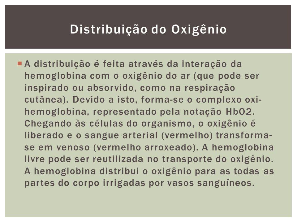 Distribuição do Oxigênio
