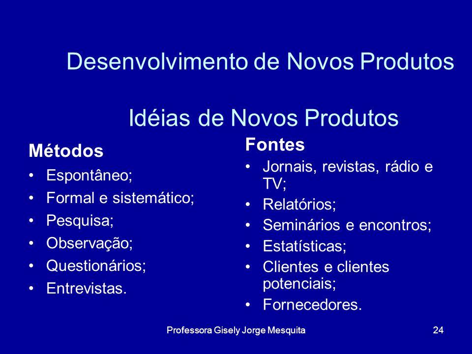 Desenvolvimento de Novos Produtos Idéias de Novos Produtos