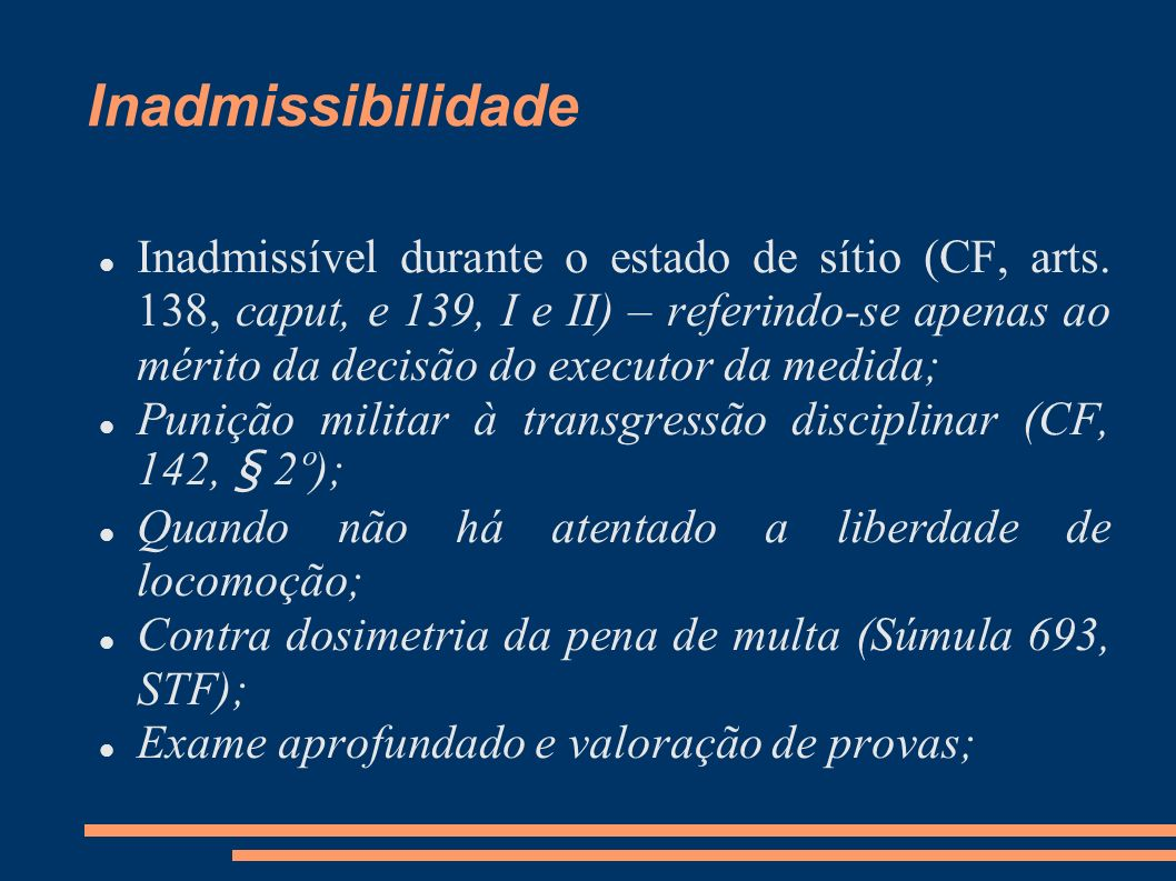 Inadmissibilidade