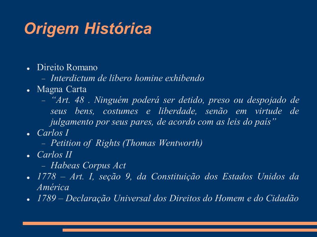 Origem Histórica Direito Romano Interdictum de libero homine exhibendo
