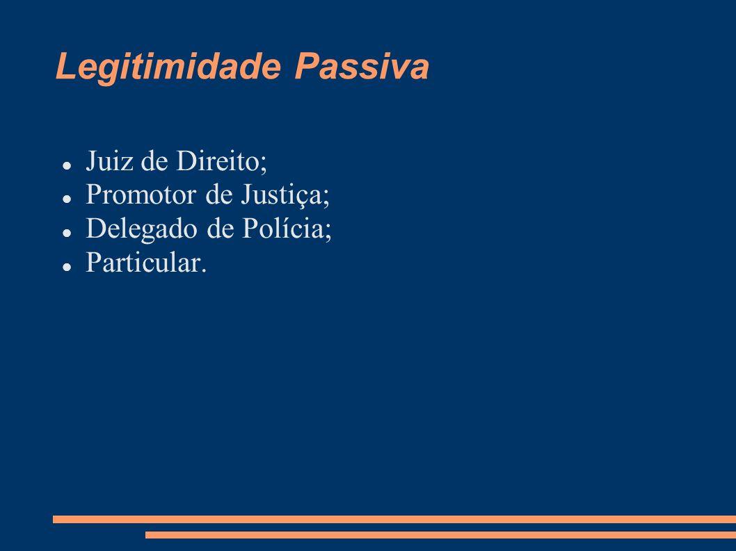 Legitimidade Passiva Juiz de Direito; Promotor de Justiça;