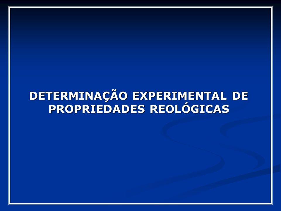 DETERMINAÇÃO EXPERIMENTAL DE PROPRIEDADES REOLÓGICAS
