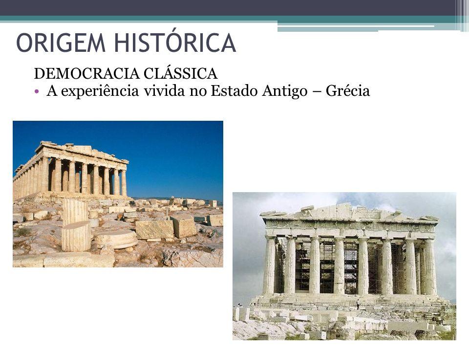 ORIGEM HISTÓRICA DEMOCRACIA CLÁSSICA