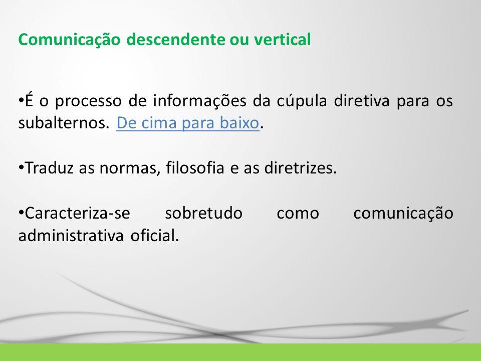 Comunicação descendente ou vertical