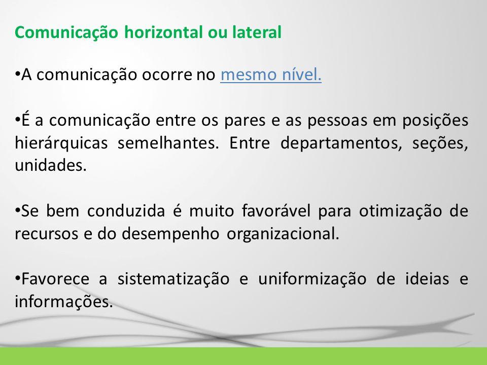 Comunicação horizontal ou lateral
