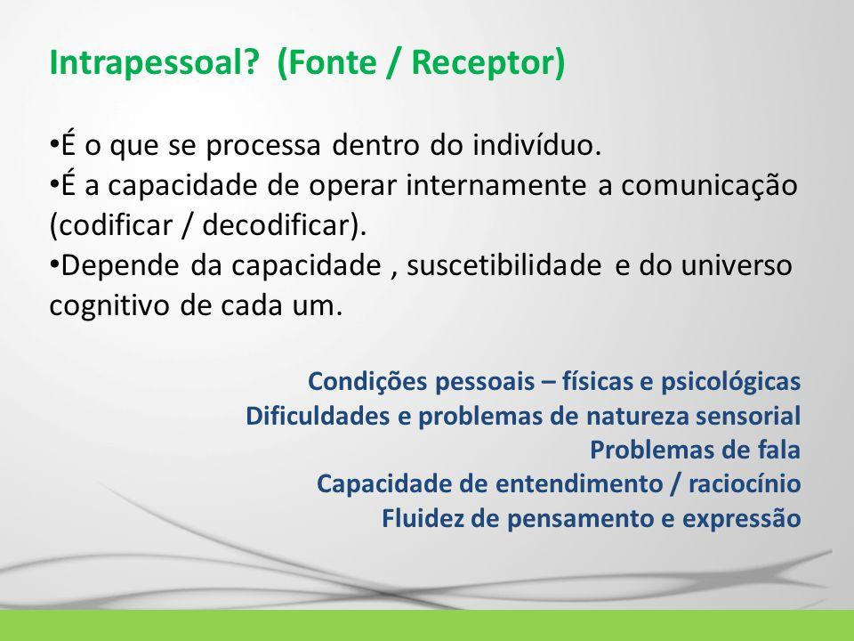 Intrapessoal (Fonte / Receptor)
