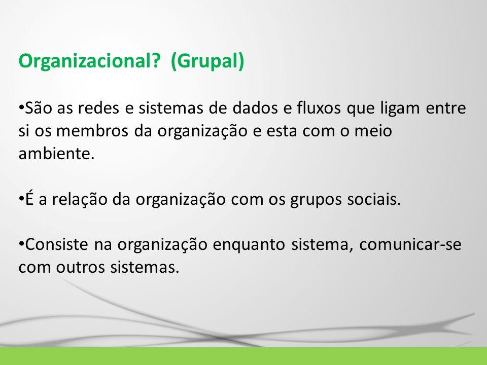 Organizacional (Grupal)