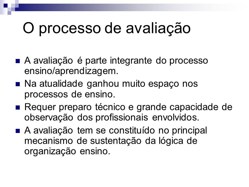 O processo de avaliação