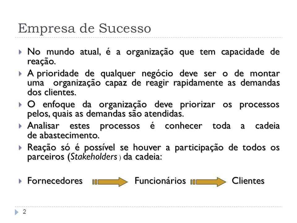 Empresa de Sucesso No mundo atual, é a organização que tem capacidade de reação.