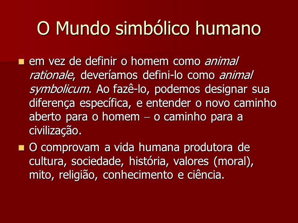 O Mundo simbólico humano