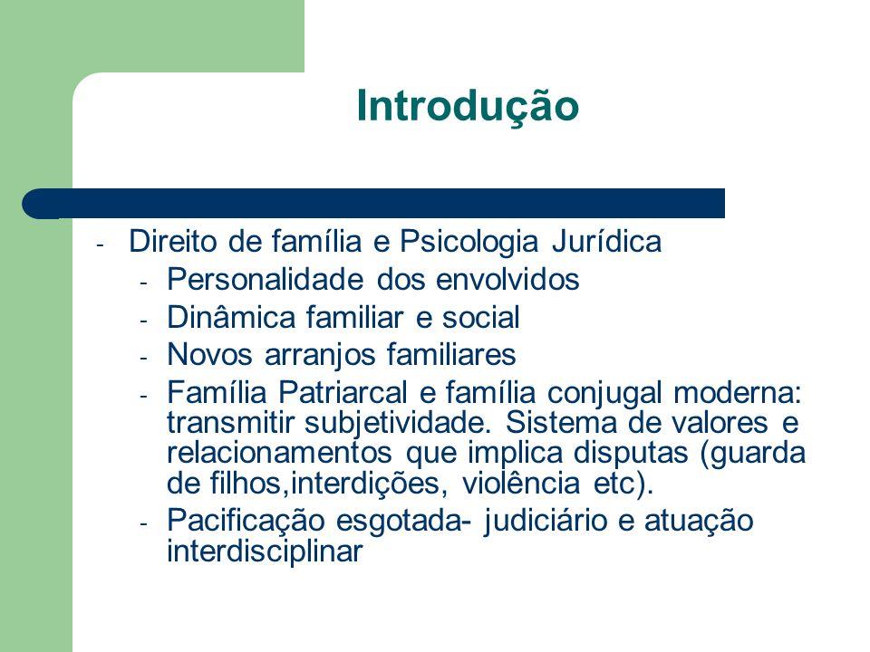 Introdução Direito de família e Psicologia Jurídica
