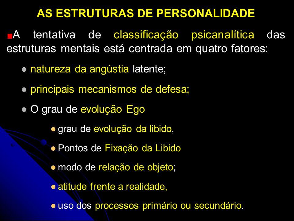 AS ESTRUTURAS DE PERSONALIDADE