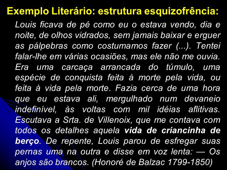 Exemplo Literário: estrutura esquizofrência: