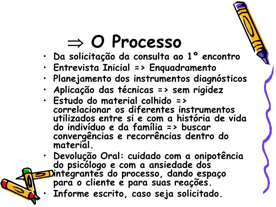  O Processo Da solicitação da consulta ao 1º encontro