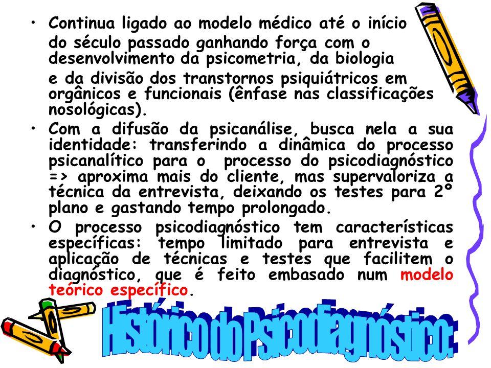 Histórico do Psicodiagnóstico: