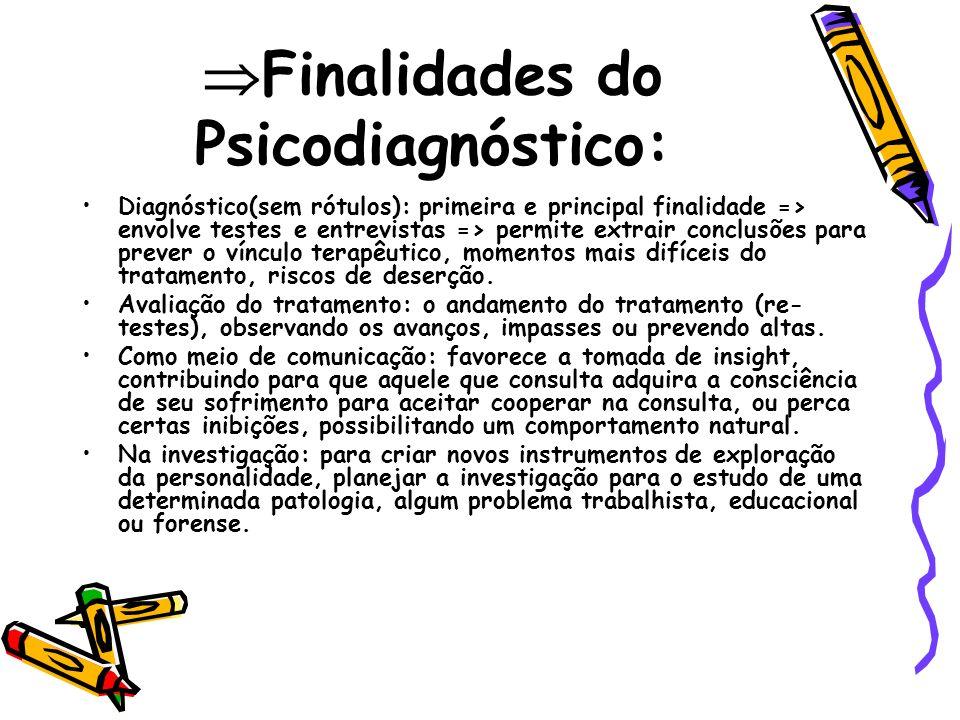 Finalidades do Psicodiagnóstico: