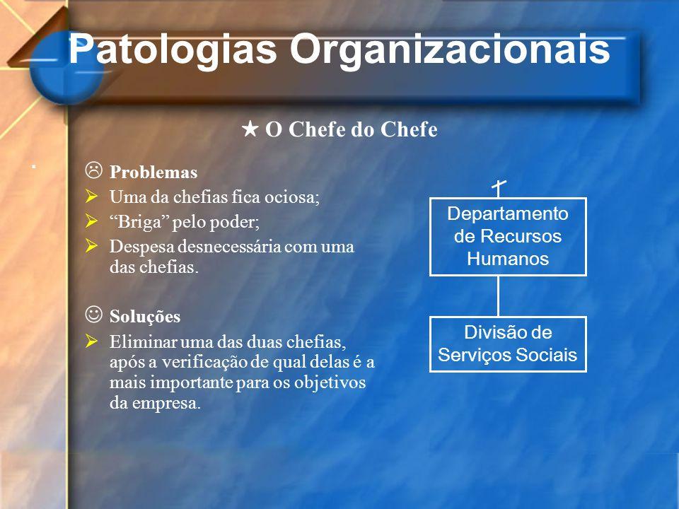 Patologias Organizacionais