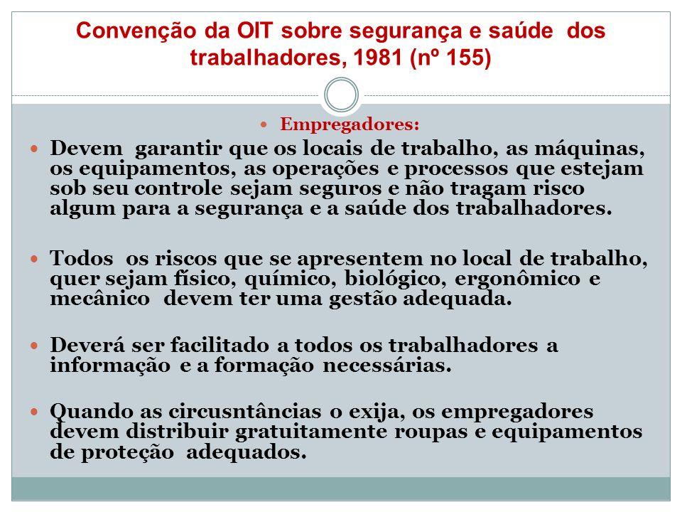Convenção da OIT sobre segurança e saúde dos trabalhadores, 1981 (nº 155)