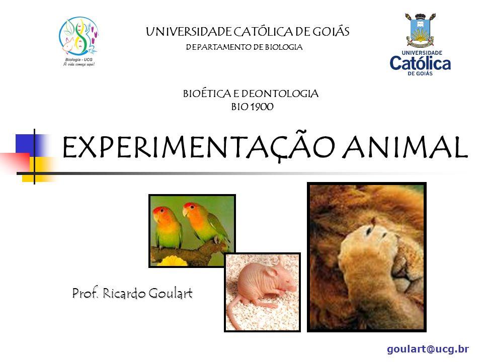 EXPERIMENTAÇÃO ANIMAL