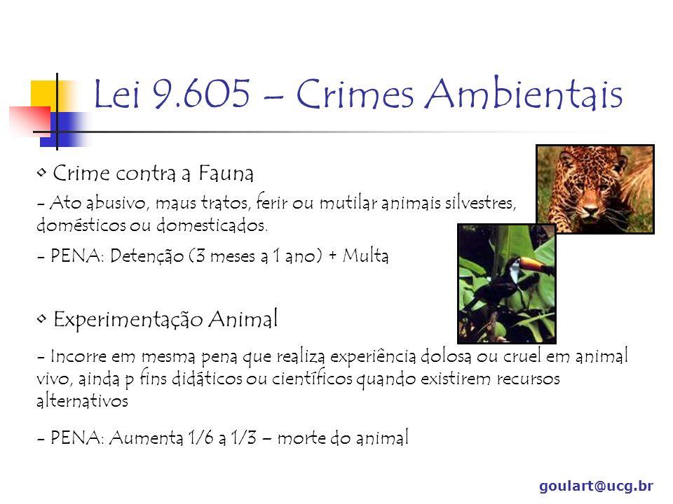 Lei 9.605 – Crimes Ambientais